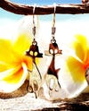 Sterling Silver Thai  Dangle Earrings Cool Cats