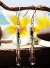 Sterling Silver Thai  Dangle Earrings Chakra Stones