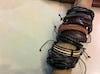 Fair Trade Hand Made Woven Leather Bracelet Braided Black