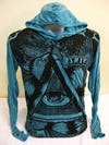 Sure Design Unisex Eye universe Hoodie Turquoise