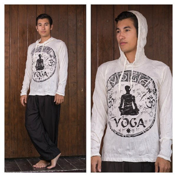 Sure Design Unisex Infinity Yoga Hoodie White