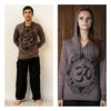 Sure Design Unisex Infinity Om Hoodie Brown