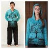 Sure Design Unisex Tree of Life Hoodie Turquoise