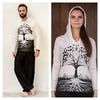 Sure Design Unisex Tree of Life Hoodie White