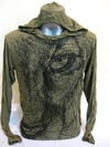 Sure Design Unisex Lions Eye Hoodie Green