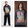 New Sure Design Stone Washed Super Soft Hoodies Chakra Tree Black