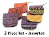 Assorted 3 Piece Set Hmong Tribal Wallet