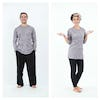 Sure Design Unisex Solid Long Sleeve Shirts Gray