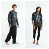Sure Design Unisex Octopus Long Sleeve Shirts Silver on Black