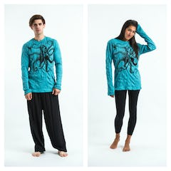 Sure Design Unisex Batman Ganesh Long Sleeve Shirts Green