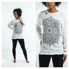 Sure Design Lotus Mandala Long Sleeve Shirts White