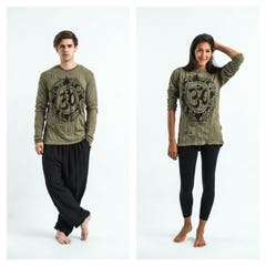 Unisex Batman Ganesh Long Sleeve T-Shirt in Green