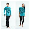 Sure Design Unisex Infinitee Ohm Long Sleeve Shirts Turquoise