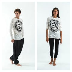 Sure Design Unisex Tree Of Life Long Sleeve Shirt White