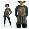 Sure Design Dreamcatcher Long Sleeve Shirt Gold on Black