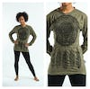 Sure Design Dreamcatcher Long Sleeve Shirts Green