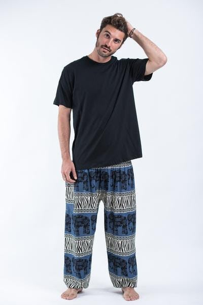 Safari Elephant Elephant Pants in Blue