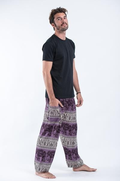 Safari Elephant Elephant Pants in Violet