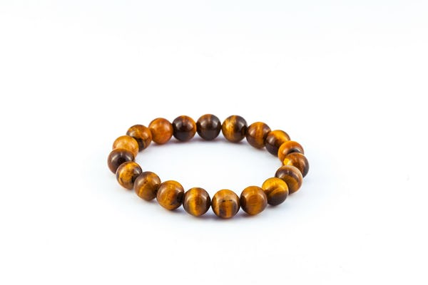 Lucky Stone Hand Made Bracelet Elastic With Tiger Eye