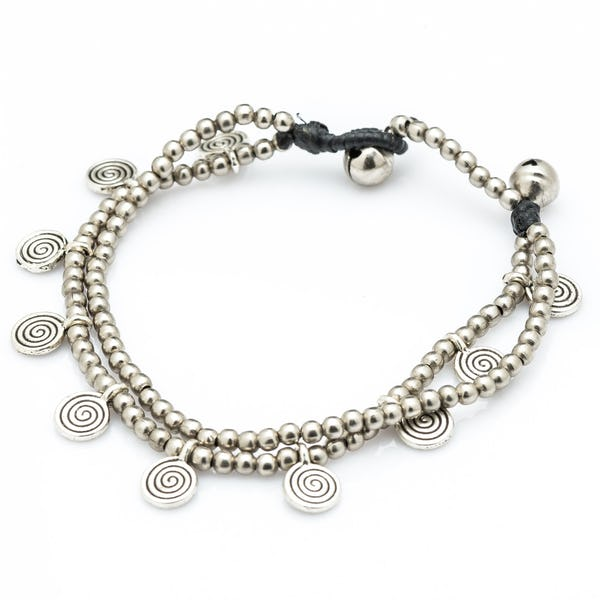 Hill Tribe Silver Color Bead And Charm Bracelets 01
