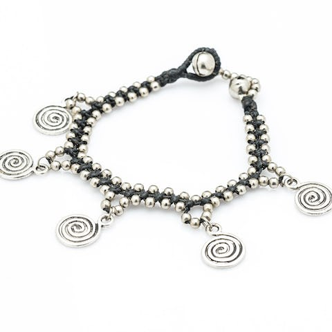 Hill Tribe Silver Color Bead And Charm Bracelets 08