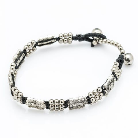 Hill Tribe Silver Color Bead And Charm Bracelets 13