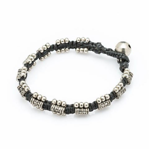 Hill Tribe Silver Color Bead And Charm Bracelets 16