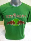Sure Design Super Soft Vintage Style Thai Red Bull Shirts Green