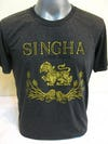 Sure Design Super Soft Vintage Style Thai Beer Singha Shirt Black