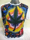 Mirror Sure Design Mens Tshirt  Weed And Shrooms White