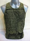 Sure Design Mens Buddha Sanskrit Tank Top Green