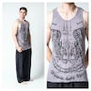 Sure Design Mens Thai Tattoo Tank Top Gray