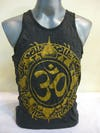 Sure Design Mens Infinitee Ohm Tank Top Gold on Black