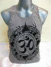 Mens Infinitee Om Tank Top in Gray