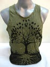 Sure Design Mens Tree Of Life Tank Top Green