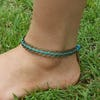 Hand Made Fair Trade Anklet Antique Coins Turquoise