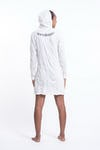 Sure Design Womens Chakra Fractal Hoodie Dress White