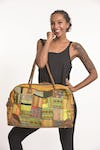 Hmong Hill Tribe Patchwork Travel Bag in Yellow