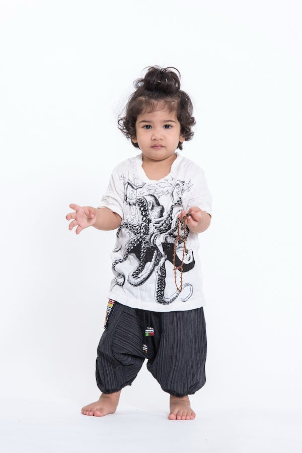 Kids Octopus T-Shirt in White
