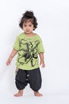 Kids Octopus T-Shirt in Lime