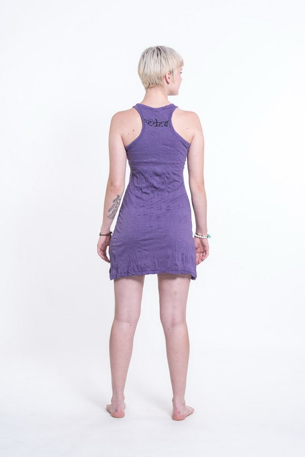 Sure Design Womens Octopus Chakras Tank Dress Purple