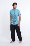 Sure Design Mens Octopus Mandala T-Shirt Turquoise