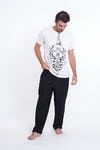 Mens Octopus Mandala T-Shirt in White