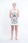 Sure Design Womens Octopus Oracle Tank Dress White