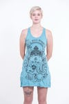 Womens Octopus Oracle Tank Dress in Turquoise