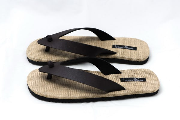 Foux Leather and Natural Jute Sandals