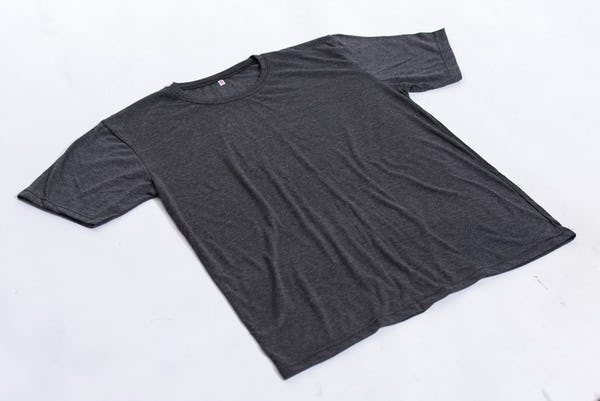 Solid Color Super Soft Cotton T-Shirt in Black