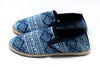 Indigo Hill Tribe Print Fabric Slip-On Shoes