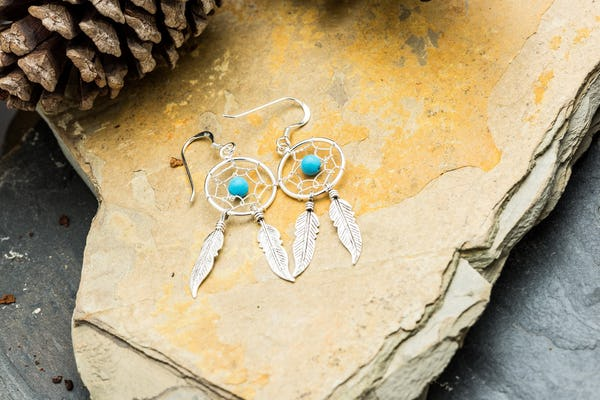 Sterling Silver Earrings Dreamcatcher