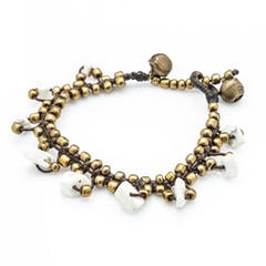 Hill Tribe Silver Color Bead And Charm Bracelets 09